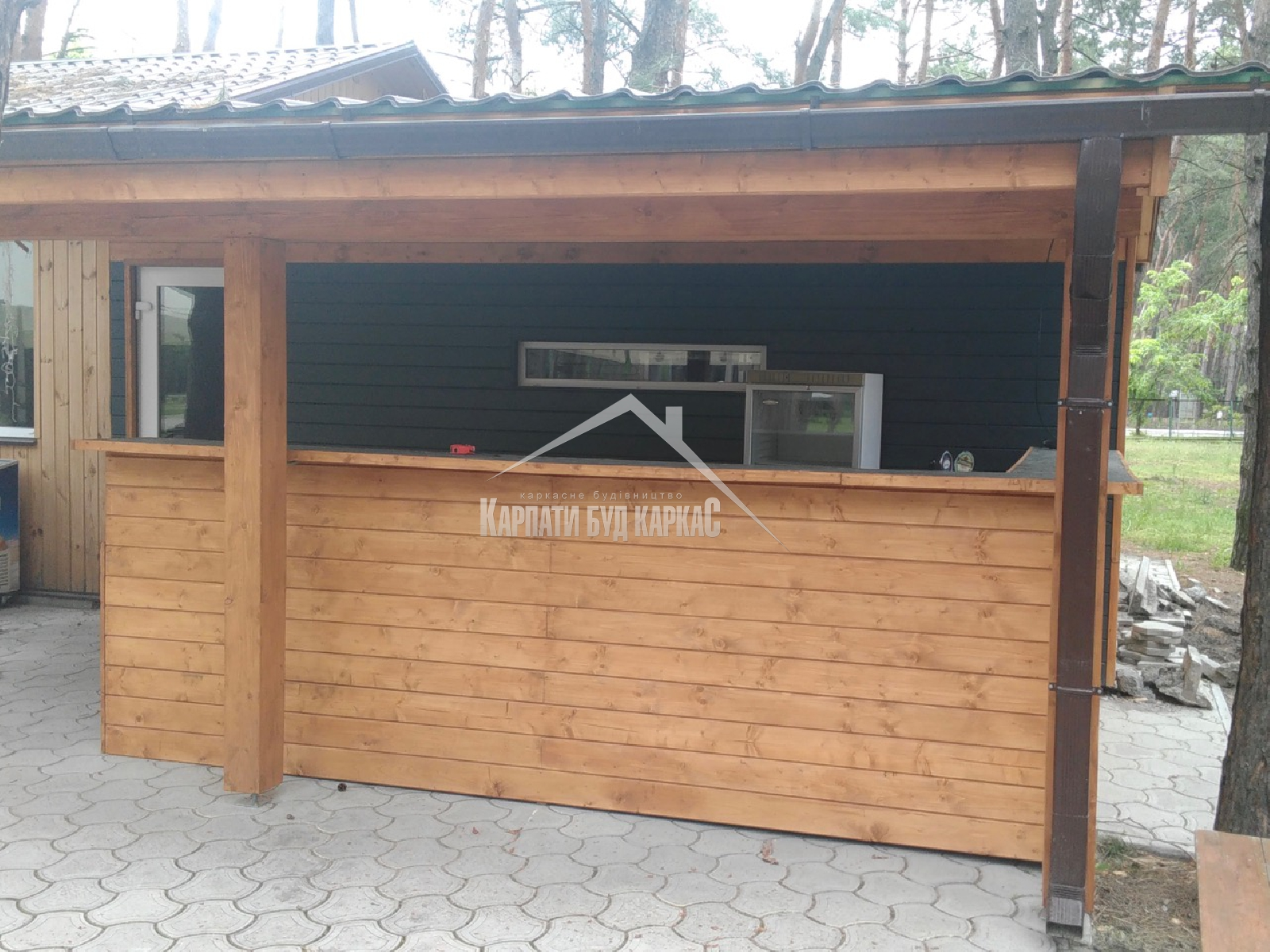 фото летней кухни под ключ + бар