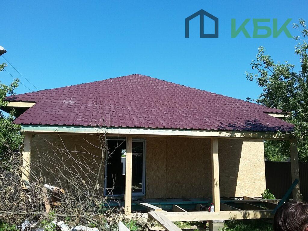 Будівництво каркасного будинку під ключ дах установка