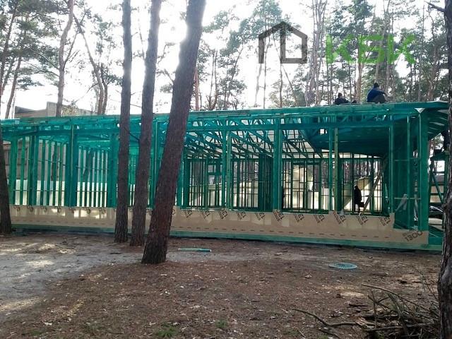 Початок будівництва конференц зали - фото каркасу