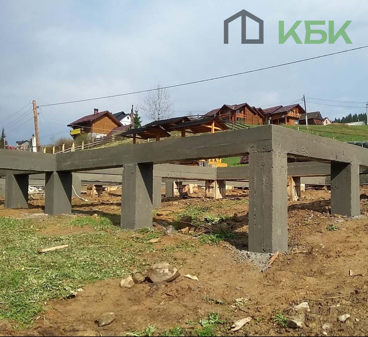 Строительство в Буковеле фундамент фото